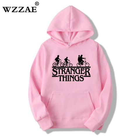 2019 Trendy Faces Stranger Things Hooded Mens Hoodies and Sweatshirts Oversized for Autumn with Hip Hop Winter Hoodies Men Brand - MikeAndNikes™- We Just Did It - Cream of The Crop®