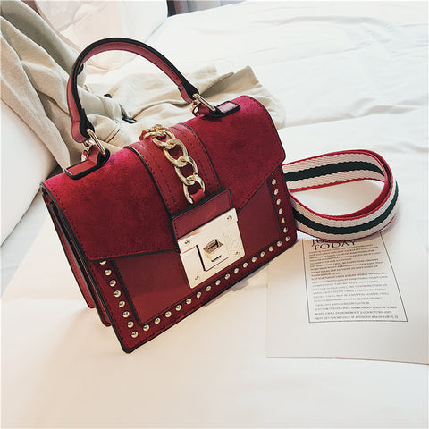 Luxury Handbags Women Bags Designer Rivet crossbody bags for women 2019 Fashion Small Messenger Shoulder bag ladies Hand Bag Red - MikeAndNikes™- We Just Did It - Cream of The Crop®