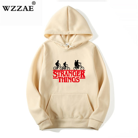 Stranger Things Hoodies Men Women Letters Print Autumn Harajuku Hip Hop Sweatshirt Man Fashion Winter Fleece Jumper Drop - MikeAndNikes™- We Just Did It - Cream of The Crop®