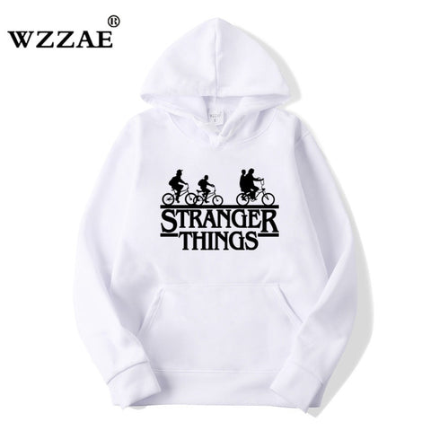2018 Trendy Faces Stranger Things Hooded Mens Hoodies and Sweatshirts Oversized for Autumn with Hip Hop Winter Hoodies Men Brand - MikeAndNikes™- We Just Did It - Cream of The Crop®