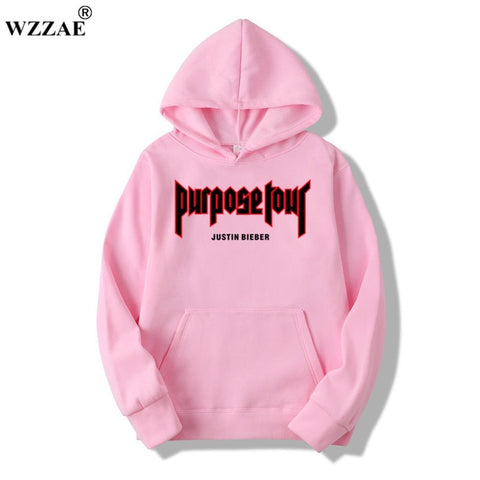 2019 New Design Justin Bieber Hip-Hop Skateboard Men Hoodie & Sweatshirts Justin Bieber Purpose Tour Men Hoodies & Sweatshirts - MikeAndNikes™- We Just Did It - Cream of The Crop®
