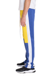 COLOR BLOCK TRACK PANTS- YELLOW/ ROYAL - MikeAndNikes™- We Just Did It - Cream of The Crop®