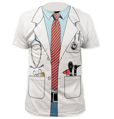 Cosplay Doctor's Overall Funny 3D Print Casual T-Shirt