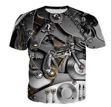 Mechanical 3D graphic print women/men Short Sleeve T-Shirt Casual Tops - MikeAndNikes™- We Just Did It - Cream of The Crop®