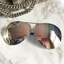 "MIRROR ""Posche"" OVERSIZED Women Sunglasses Aviator Flat Top Square Shadz GAFAS - MikeAndNikes™- We Just Did It - Cream of The Crop®"