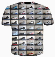 Jordan Shoes 3D Print Casual T-Shirt Short Sleeve - MikeAndNikes™- We Just Did It - Cream of The Crop®