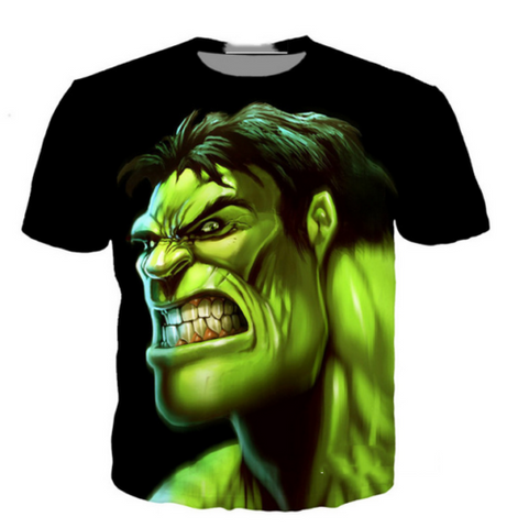 Hulk Cartoon 3D graphic print women/men's Short Sleeve Casual Tops T-Shirt - MikeAndNikes™- We Just Did It - Cream of The Crop®
