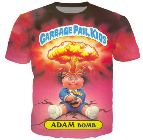 Garbage Pail Kids 3D print women/men's Short Sleeve Casual Tops T-Shirt