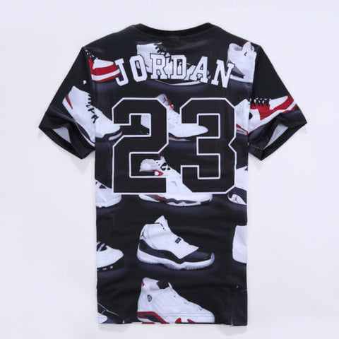 Jordan 23 Letter 3D Print Casual short sleeve T-Shirt - MikeAndNikes™- We Just Did It - Cream of The Crop®