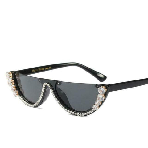 Women Crystal Cat Eye Frame - MikeAndNikes™- We Just Did It - Cream of The Crop®
