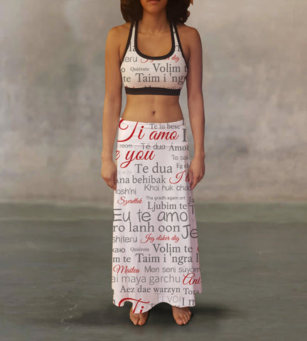 I Love You Maxi Skirt - MikeAndNikes™- We Just Did It - Cream of The Crop®