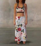 Valentine Roses Splash Maxi Skirt - MikeAndNikes™- We Just Did It - Cream of The Crop®