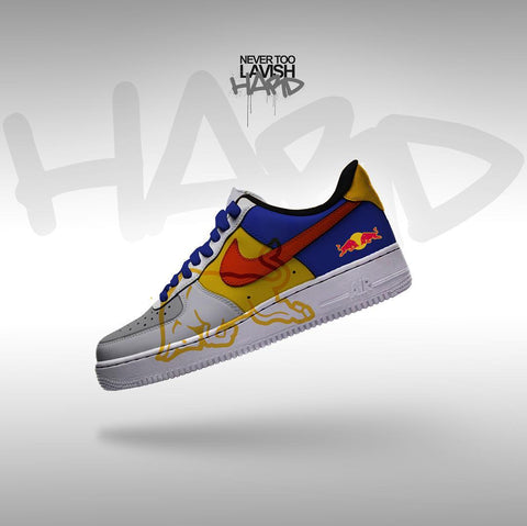 red bull  - air force one custom - MikeAndNikes™- We Just Did It - Cream of The Crop®