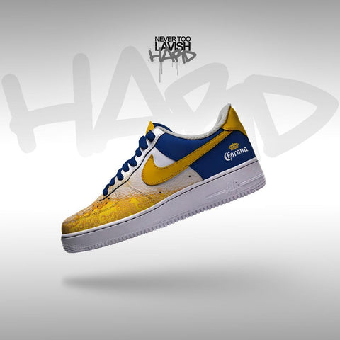 corona beer  - air force one custom - MikeAndNikes™- We Just Did It - Cream of The Crop®