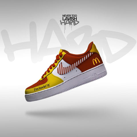Ronald MacDonald Im loving it - air force one custom - MikeAndNikes™- We Just Did It - Cream of The Crop®