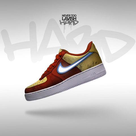 iron man  - air force one custom - MikeAndNikes™- We Just Did It - Cream of The Crop®