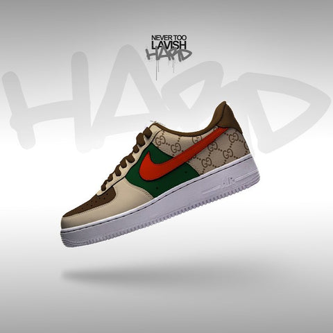 gucci red check  - air force one custom - MikeAndNikes™- We Just Did It - Cream of The Crop®