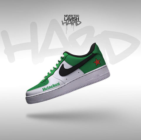 heineken full green  - air force one custom - MikeAndNikes™- We Just Did It - Cream of The Crop®