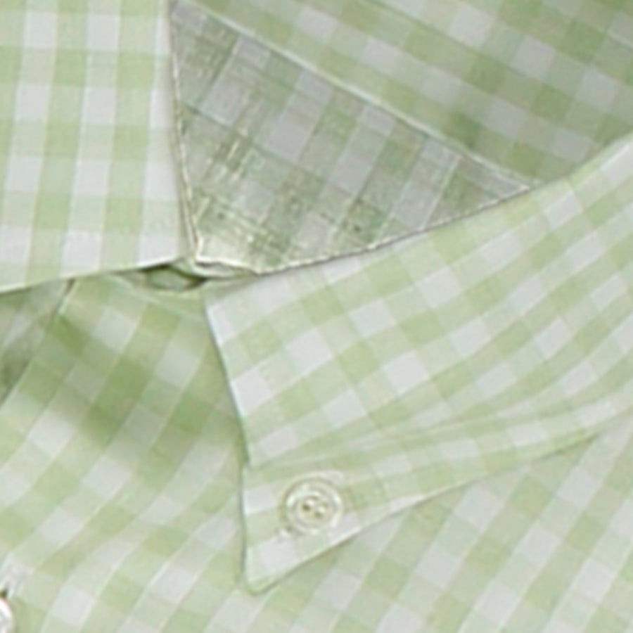 Light Green Check Cotton Shirt