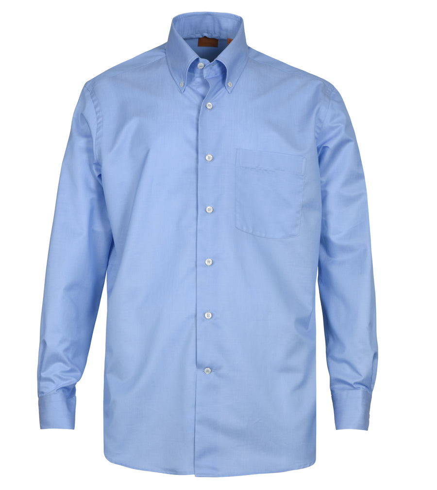 Solid Lt. Blue Cotton Shirt