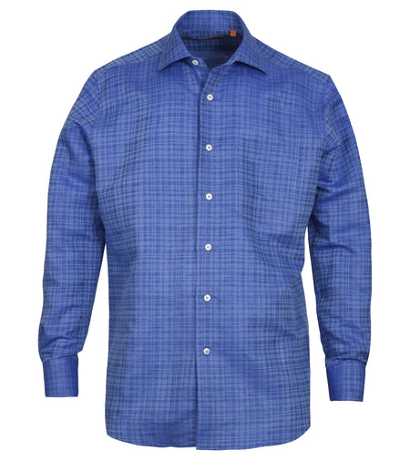 Cobalt Blue Cotton Linen Shirt