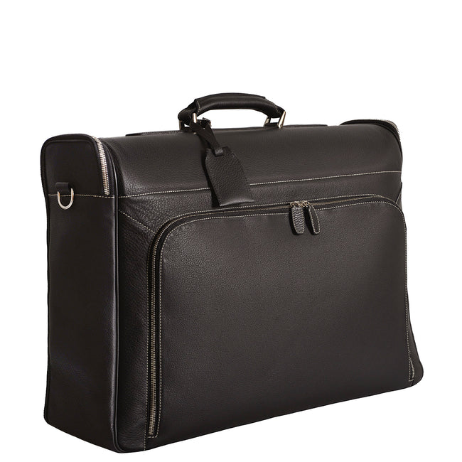 Brown Leather Garment Bag