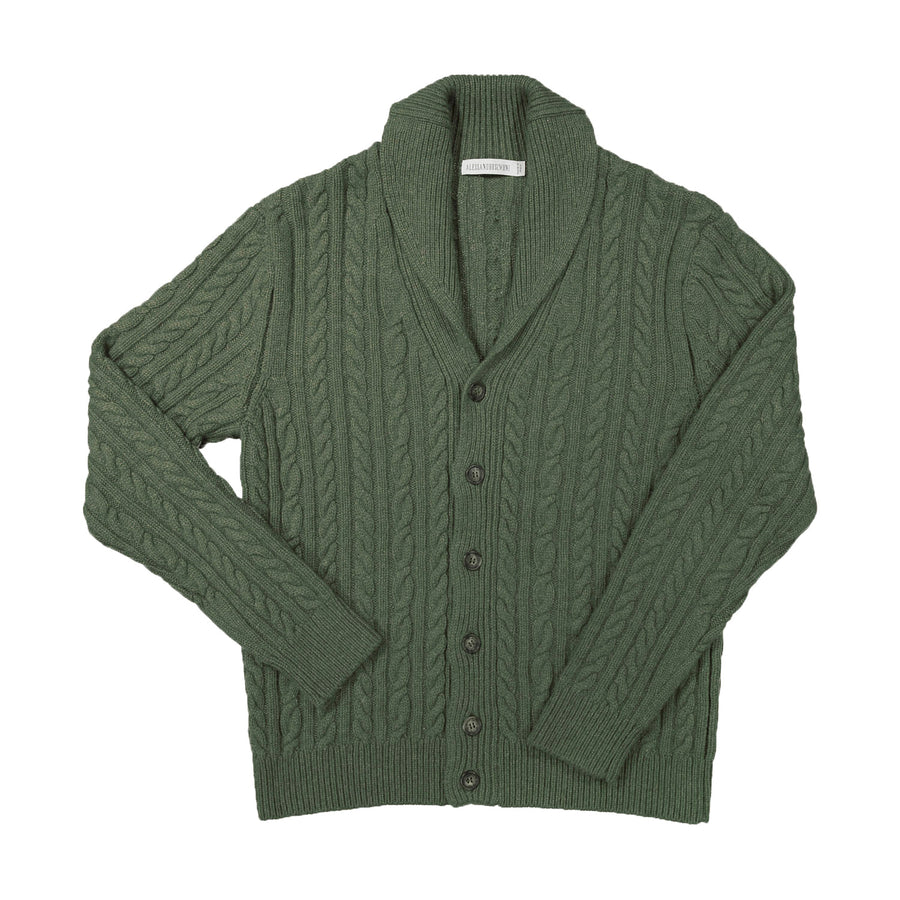 Moss Green Cashmere Cardigan
