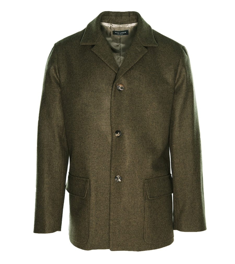 Army Green Wool Jacket