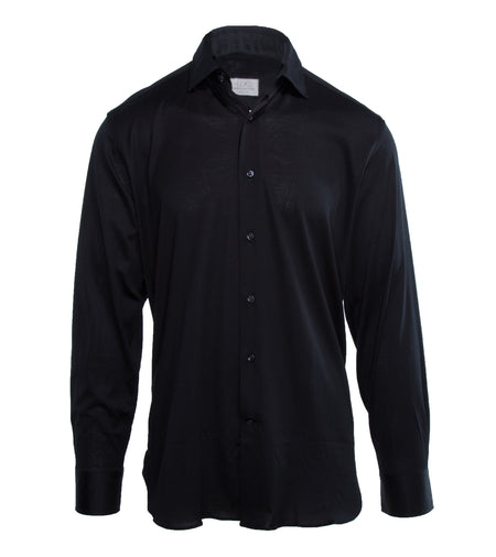 Black Cotton Jersey Shirt