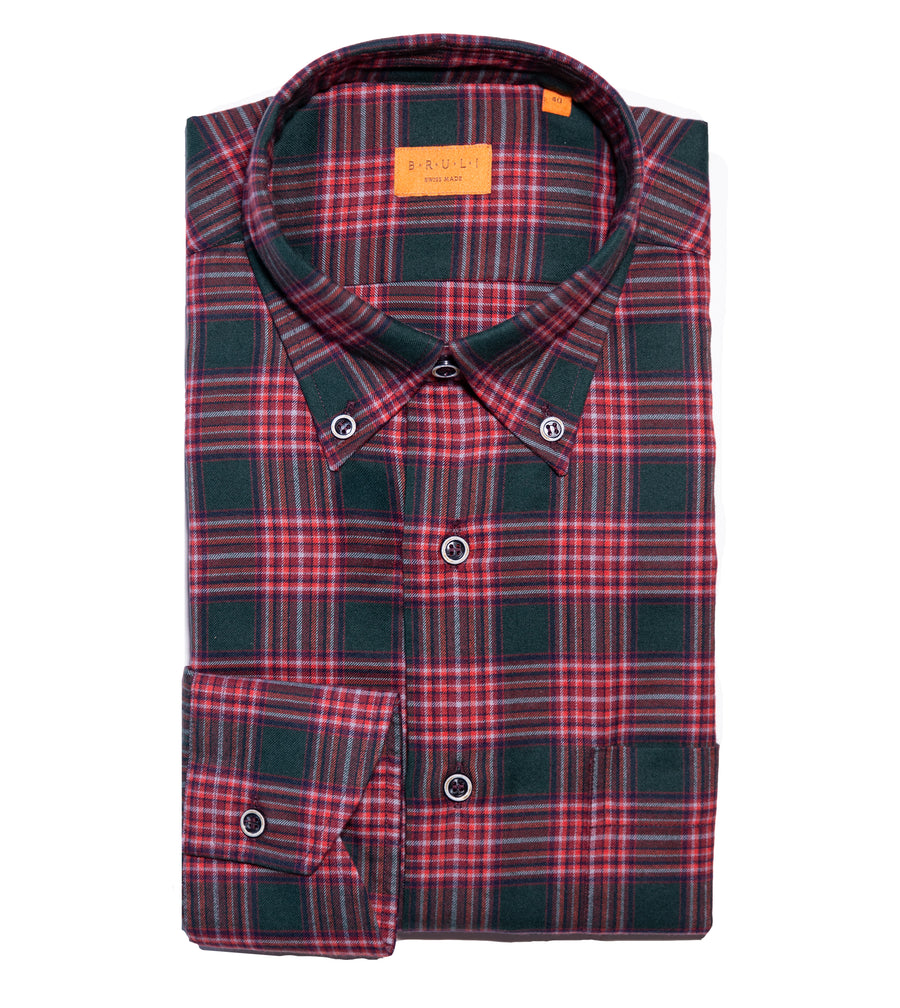 Brushed Cotton Plaid Shirt