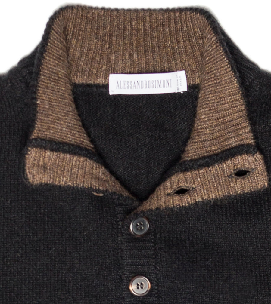 Cashmere Button Sweater