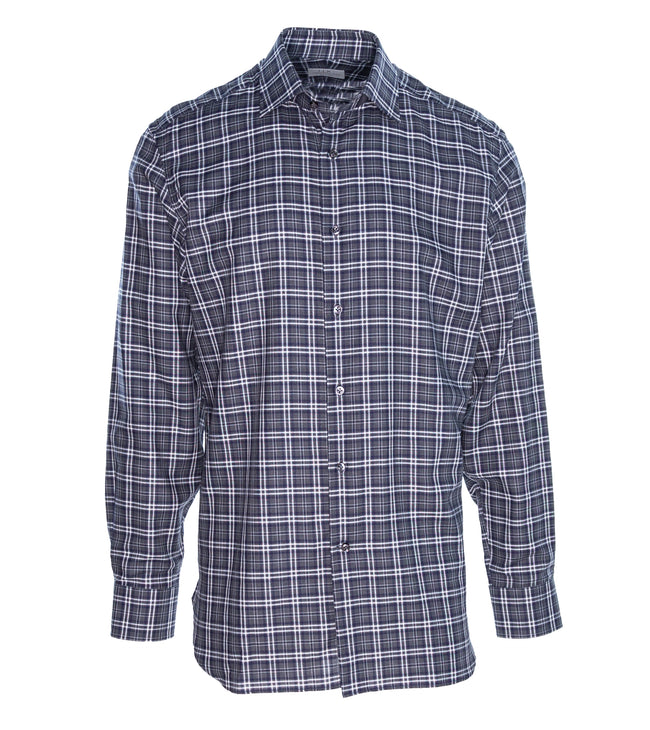 Grey Black Check Shirt