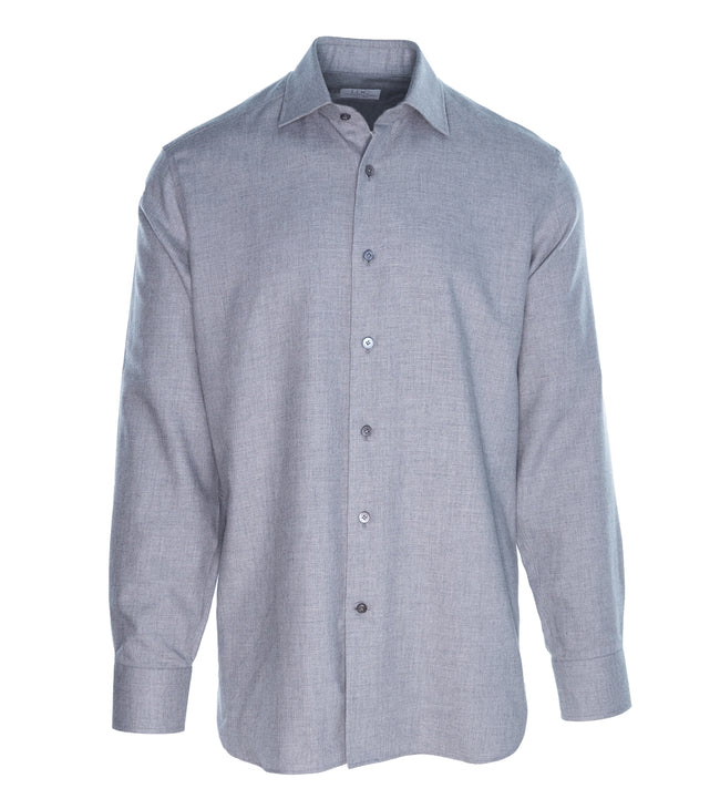 Grey Cashmere-Cotton Shirt