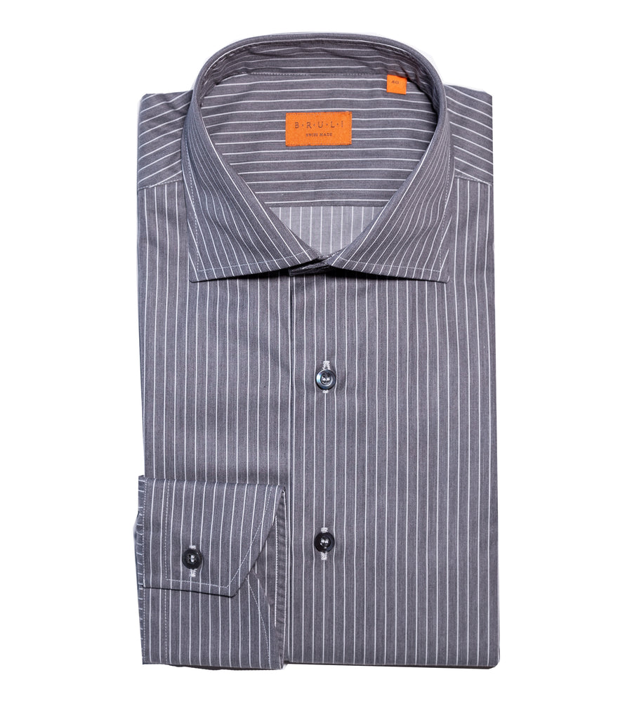Grey Pinstripe Shirt