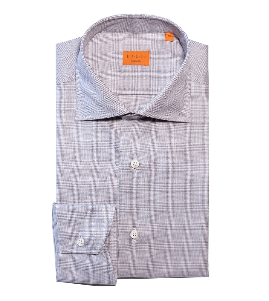 Houndstooth Two Ply Cotton Shirt