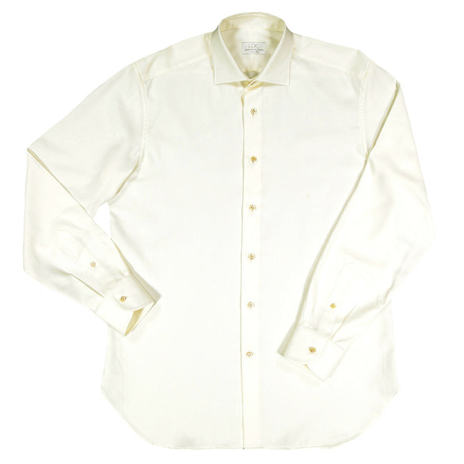 White Twill Shirt - by Laboratorio del Carmine for Via Luca
