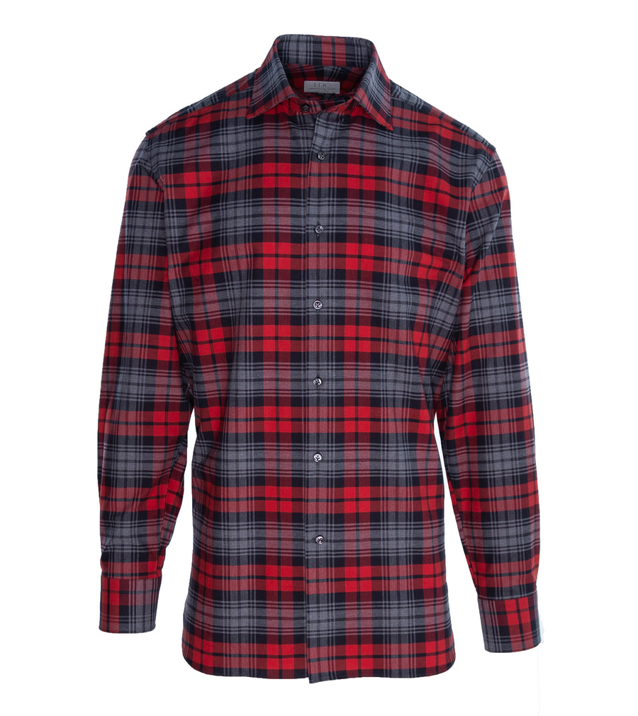 Red-Black Windowpane Shirt