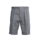Khaki Grey Stretch Cotton Short