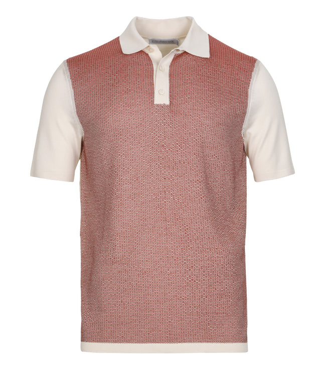 Fine Silk-Cotton Button Polo