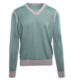 V Neck Silk Cashmere Sweater