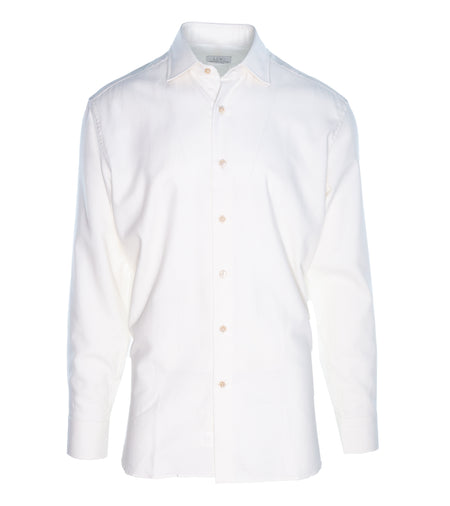 White Cashmere-Cotton Shirt