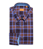 Windowpane Brushed Cotton Shirt