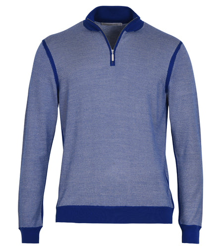 Silk Cashmere 1/4 Zip Sweater