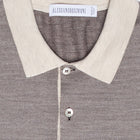 Wool Melange Long Sleeve Polo
