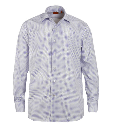 Blue Mini Diamond Cotton Shirt