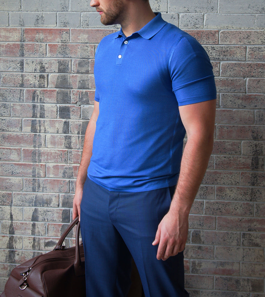 Cashmere Silk Knitted Polo