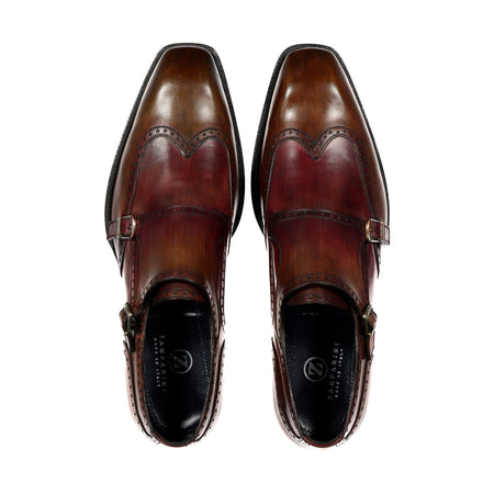 Handpainted Double Monk Shoe