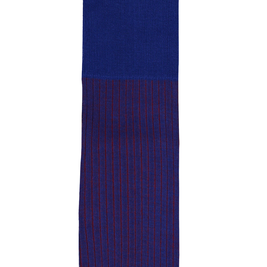 Long Cotton Mercerized Socks - Two Tone