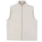Tan Nylon Wool Reversible Vest