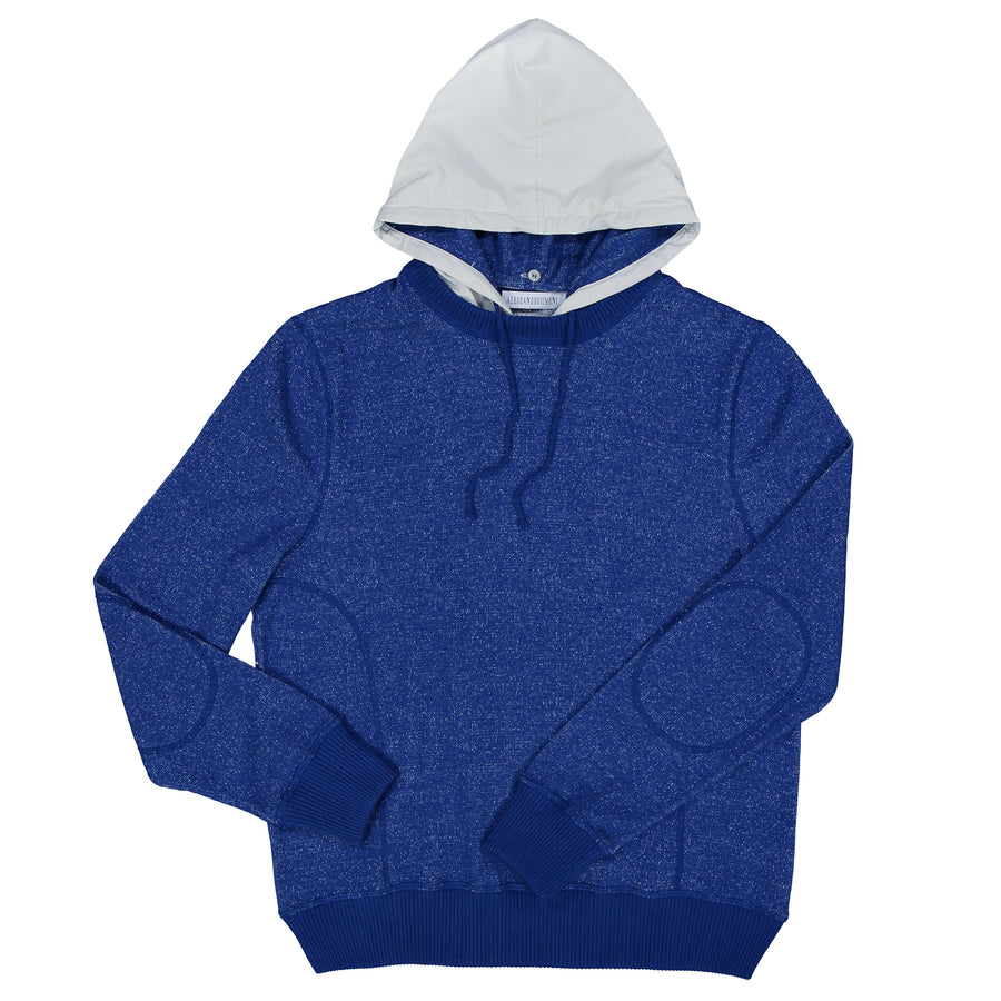 Cotton-Cash-Silk Crew with Removable Hood